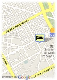 map-Hotel Medium Valencia