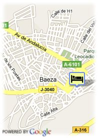 map-Hotel Baeza Monumental