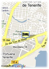 map-Hotel Silken Atlantida Santa Cruz