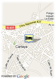 map-Hotel Cartaya Garden