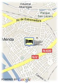 map-Hotel Velada Merida