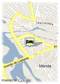 map-Hotel Merida Palace