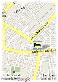 map-Hotel Occidental Sevilla