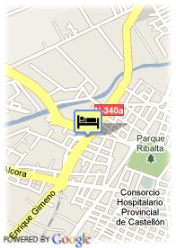 map-Hotel Luz Castellon