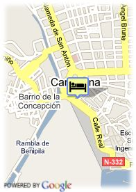map-Hotel Husa Cartagonova And Spa