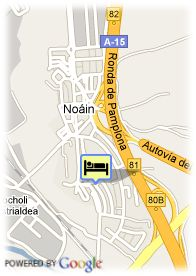 map-Hotel Be Smart Pamplona
