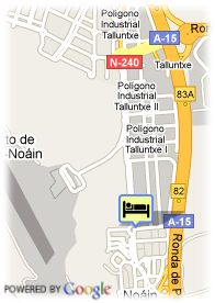 map-Hotel Noain Pamplona