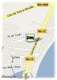 map-Grupotel Port D´Alcudia