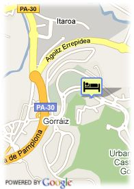 map-Hotel Castillo Gorraiz Golf