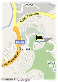 map-Hotel Castillo De Gorraiz Golf Spa