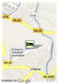 map-Hotel Villava Pamplona