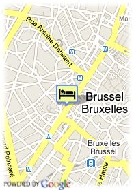 map-Hotel Eurostars Grand Place