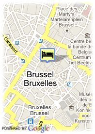 map-Hotel Floris Arlequin Grand Place