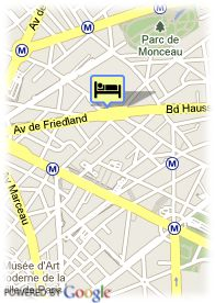 map-Best Western Champs-Elysées Friedland