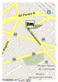 map-Hotel Pavillon Monceau