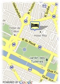 map-Hotel Castille Paris
