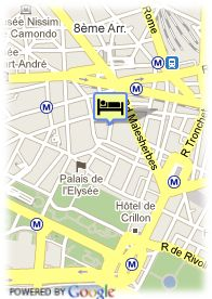 map-Hotel Astor Saint Honore
