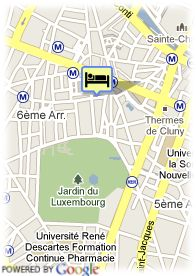 map-Hotel Odeon Saint Germain
