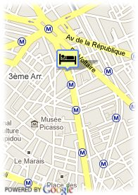 map-Hotel Murano Resort Paris