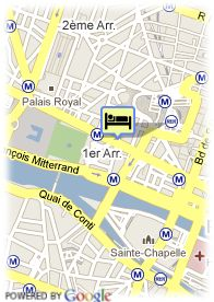 map-Hotel l'Empire Paris