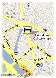 map-Hotel Pavillon Bastille