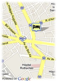 map-Hotel Pavillon Nation
