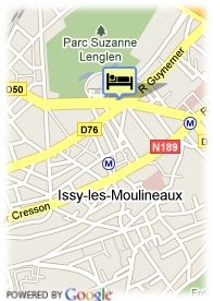map-Hotel Gabriel Issy-Paris