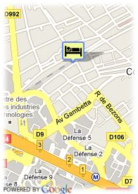 map-Hotel Central La Defense