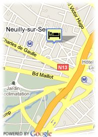 map-Hotel Neuilly Park