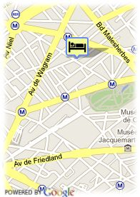 map-Hotel Elysees Parc Monceau