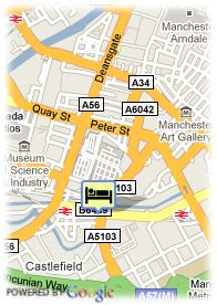 map-Blue Rainbow Apartments Manchester
