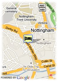 map-Hotel Britannia Nottingham