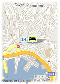 map-Hotel Continental Genova