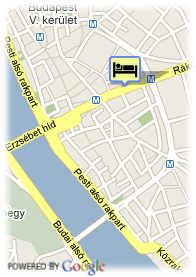 map- Hotel Eurostars Budapest Center