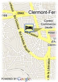 map-Appart'City Clermont-Ferrand Pasteur