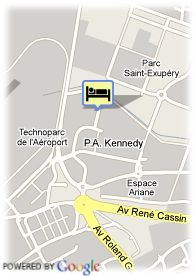 map-Appart'City Bordeaux Mérignac
