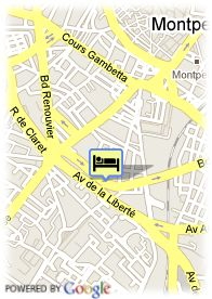 map-Appart'City Montpellier
