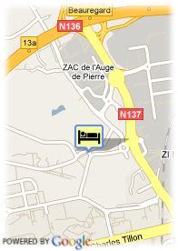 map-Appart'City Rennes Beauregard
