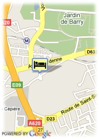 map-Appart'City Toulouse Hippodrome