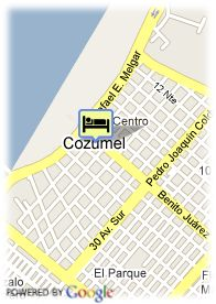 map-Hotel President Intercontinental Cozumel