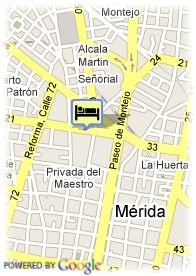 map-Hotel Pres. Intercontinental Merida