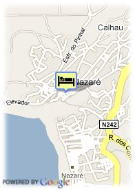 map-Hotel Da Nazare