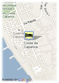 map-Hotel Costa da Caparica