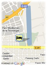 map-Hotel Canal Olimpic