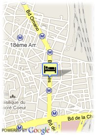 map-Best Western Paris Montmartre