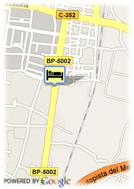 map-Hotel Granollers