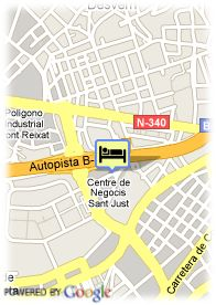 map-Hotel Hesperia Sant Just