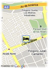 map-Hotel Velada Madrid