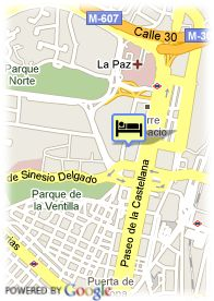 map-Hotel Eurostars Madrid Tower