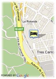map-Hotel Express Holiday Inn Tres Cantos